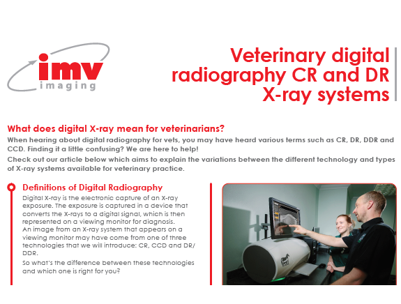 image of  veterinary digital X-ray systems guide